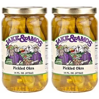 Jake & Amos Pickled Okra / 2 - 16 Oz. Jars