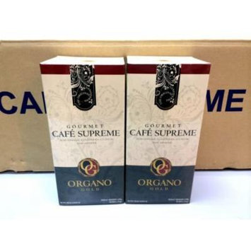 2 Boxes Organo Gold Gourmet Cafe Supreme with Ginseng Ganoderma Lucidum Extract + Free 2 Sachets Gano Excel Tongkat Ali Coffee