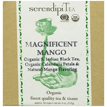SerendipiTea Mango Magnus, Organic Indian Black Tea and Organic Mango, 4 Ounce Boxes