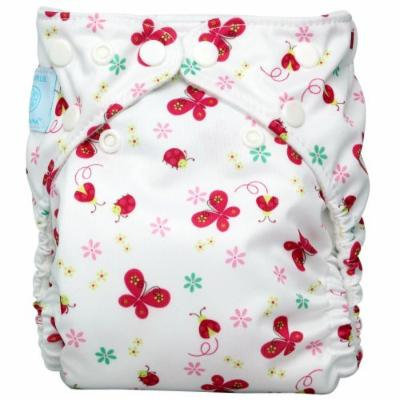 Charlie Banana 2 in 1 Eco-Friendly Hybrid Reusable Cloth Diaper - Large (Butterfly)