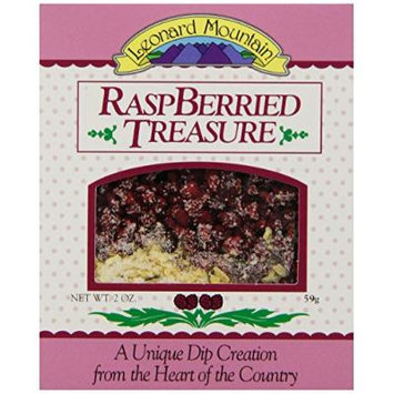 Leonard Mountain Treasure Fruit Dip, Raspberried, 2 Ounce (Pack of 6)