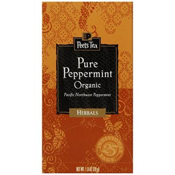 Peet's Coffee & Tea Pure Peppermint Tea, 25 Count