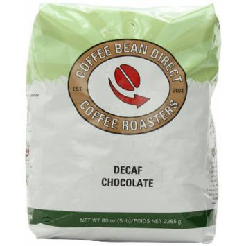 Coffee Bean Direct Decaf Chocolate Flavored, Whole Bean Coffee, 5-Pound Bag