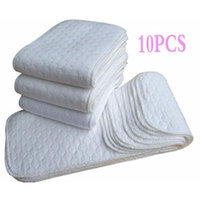 10pcs New Reusable Baby Modern Cloth Diaper Nappy Liners inserts 3 Layers