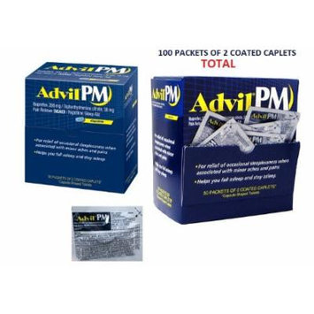 Advil® PM Ibuprofen 200mg Fast Pain Reliever and Fever Reducer Nighttime Sleep Aid Coated Caplets Pack