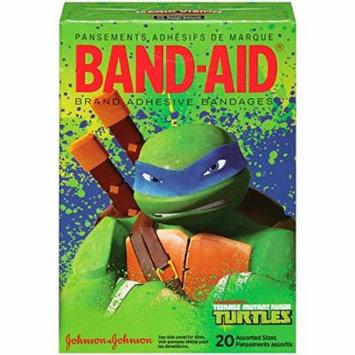 Band-Aid Brand Adhesive Bandages, Teenage Mutant Ninja Turtles, 20 Count