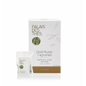 Palais des Thés Gout Russe 7 Agrumes Black Tea with Citrus, 20 Tea Bags (40g/1.4oz)