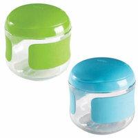 OXO Tot Flip-Top Snack Cup, 2 Pack - Green/Aqua