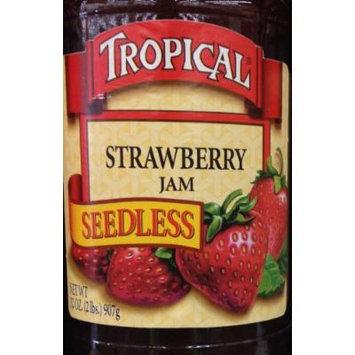 32oz Tropical Strawberry Jam Seedless, No Preservatives, No Artificial Coloring, No Artificial Flavorings