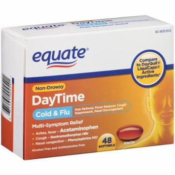 Equate Daytime Cold & Flu Softgels, 48ct, Compare to DayQuil LiquiCaps