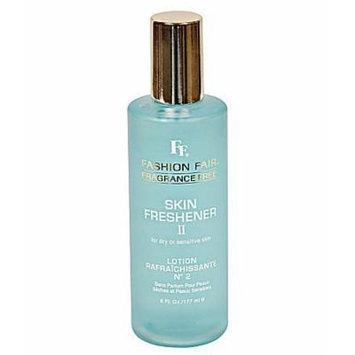 Fashion Fair Fragrance Free Skin Freshener II - For Dry or Sensitive Skin - Lotion Rafraichissante - 6 oz.