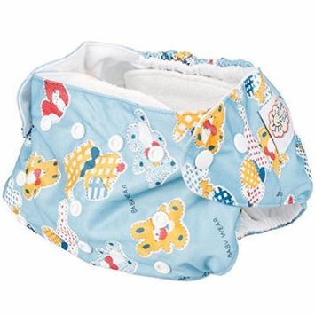 Baby Infant Girl Washable Pocket Cloth Diaper Nappy Printed Covers Inserts Blue