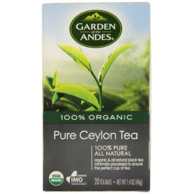 Garden of the Andes 100% Organic Herbal Tea, Pure Ceylon, 20-Count