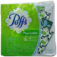 Puffs Plus Lotion To-Go Facial Tissues - 10 ct - 4 pk