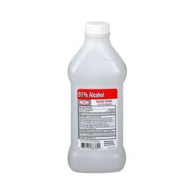 Isopropyl Rubbing Alcohol 91% One Bottle of 16 Fl oz (1)