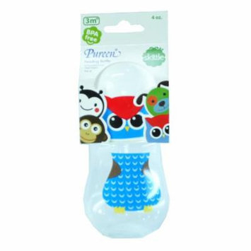 New Pureen Skittle Baby Feeding Bottle BPA Free 4 oz for 3 months (Owl)