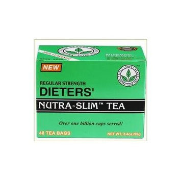 Regular Strength Dieters' Nutra-Slim Tea Triple Leaves Brand - 48 Tea Bags