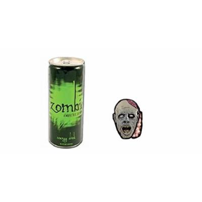 Energy Drink Zombie Awake The Dead and Zombie Brain Shaped Mint Candy Bundle