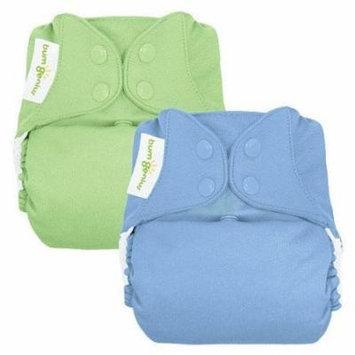 BumGenius 4.0 Boy Snap Cloth Diaper 2-Pack - Grasshopper/Twilight (One Size)