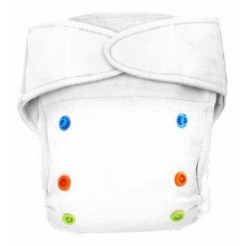 BabyKicks Premium Cloth Diaper Hook and Loop Closure, White