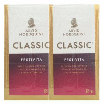 Arvid Nordquist Classic Coffee Extra Dark Roast 2 Packs 17.6oz/500g