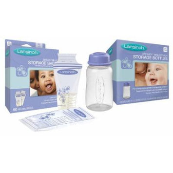 Lansinoh Breastmilk Storage Bags with 4 Storage Bottles