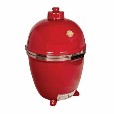 Grill Dome Infinity Series Ceramic Kamado Charcoal Smoker Grill, Red, Extra-Large