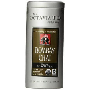 Octavia Tea Bombay Chai (Organic Black Tea) Loose Tea, 2.51-Ounce Tin