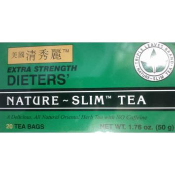 Extra Strength Dieters' Nature-Slim Tea Triple Leaves Brand - 20 Tea Bags
