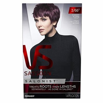 Vidal Sassoon Salonist Hair Colour Permanent Color Kit, 3/66 2 Darkest Intense Violet