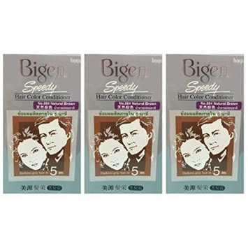 3 BOXES of BIGEN SPEEDY Natural Brown No.884 Hair Color Conditioner. Darkens grey hair in 5 min