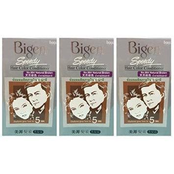 3 BOXES of BIGEN SPEEDY Natural Brown No.884 Hair Color Conditioner. Darkens grey hair in 5 min