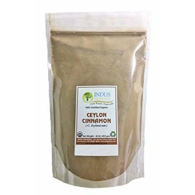 Indus Organic Ceylon Cinnamon Powder, 1 Lb Refill Pack, Premium Grade, Freshly Packed