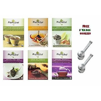 Mighty Leaf Tea Variety Pack (Pack of 6) 1 Mighty Leaf Tea Chamomile Citrus, 1 Mighty Leaf Tea Green Tea Tropical, 1 Mighty Leaf Tea Mint Melange, 1 Mighty Leaf Tea Organic Earl Grey, 1 Mighty Leaf Tea White Orchard, 1 Mighty Leaf Tea Organic Breakfast...