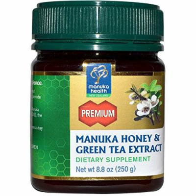 Manuka Health Premium Manuka Honey with Green Tea Extract, 8.75 Ounce