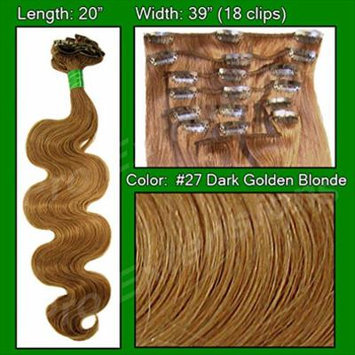 Pro Extensions Hair Extensions #27 Dark Golden Blond - 20 inch Body Wave