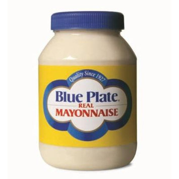 Blue Plate Mayonnaise, Real, 30 Ounce (Pack of 12)