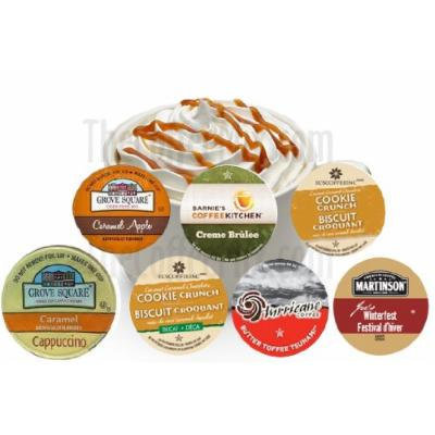 12 Cup SWEET CARAMEL DREAM Sampler! Delicious Caramel Inspired Flavored Single Serve cups!