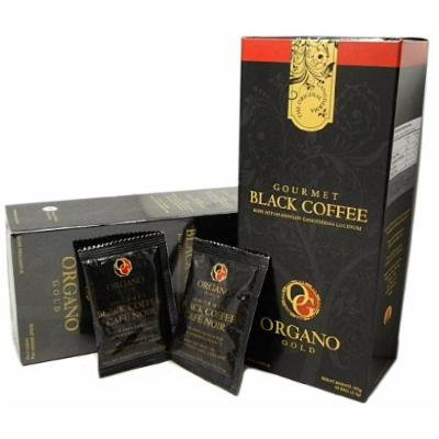 4 Boxes Organo Gold Gourmet Cafe Noir, Black Coffee 100% Certified Ganoderma Extract Sealed (1 Box of 30 Sachets)