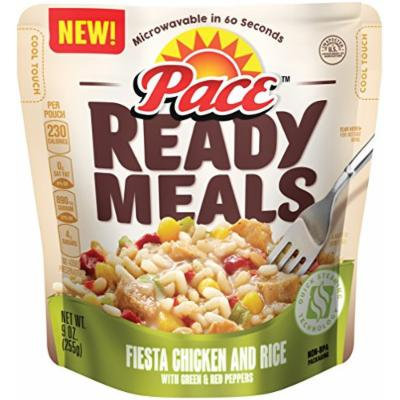 Pace Ready Meals, Fiesta Chicken and Rice with Green & Red Peppers, 9 Ounce (Pack of 6)