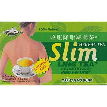 Tai Chi-slim Line Tea(caffeine Free)-12 Tea Bags(0.8 Oz)