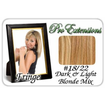 #18/22 Dark Blonde w/ Highlights Pro Fringe Clip In Bangs