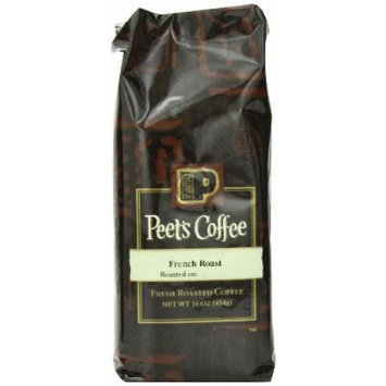 Peet's Coffee & Tea French Roast Ground Coffee, 16-Ounce Bags (Pack of 2)