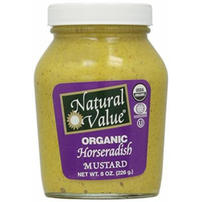 Natural Value Organic Horseradish Mustard, 8 Ounce (Pack of 12)
