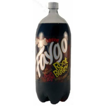Faygo Root Beer Genuine Old Fashioned Draft Style Carbonated Soda 2 Liter Bottle