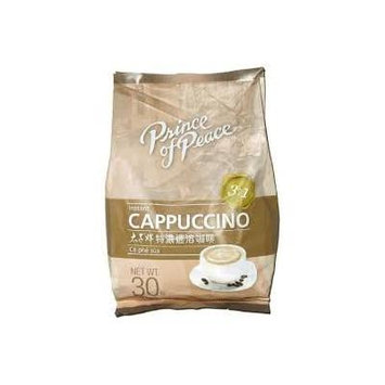 Prince of Peace Instant Cappuccino, 3 in 1 (Coffee, Creamer, Sugar), 30 Sachets, 21 oz.