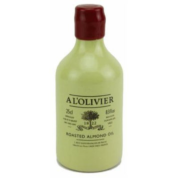 A L'Olivier French Roasted Almond Oil in Stoneware Crock, 250ml (8.3oz)