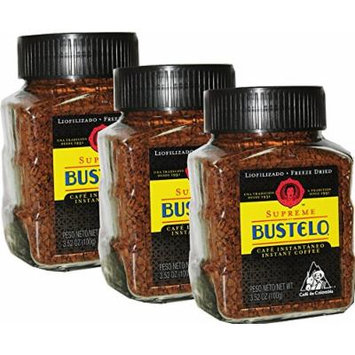 Bustelo Instant Freeze Dried Coffee 3.5 oz Pack of 3