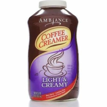 35.3oz Ambiance Coffee Creamer Light & Creamy, Non Dairy, Lactose Free, Pack of 1