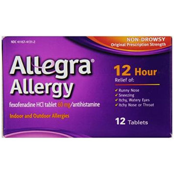 Allegra Adult 12 Hour Allergy Relief, 12-Count